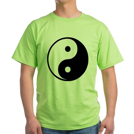 Yin Yang Symbol Green T-Shirt