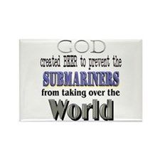 Submariners, God & Beer Rectangle Magnet