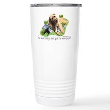 Innocent Ir Wolfhound puppy on Travel Mug