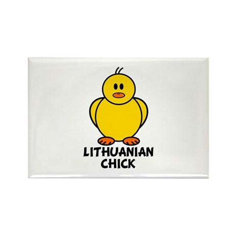 Lithuanian Chick Rectangle Magnet