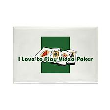 Video Poker Rectangle Magnet