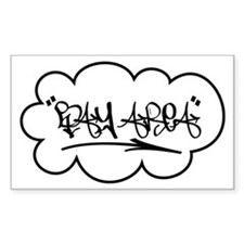 Bay Area Tag Rectangle Decal