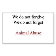 We do not forgive Rectangle Decal