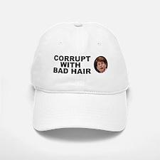 Blagojevich Corrupt / Bad Hair Baseball Baseball Cap
