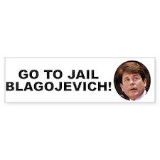 Go To Jail Blagojevich Bumper Bumper Sticker
