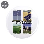 """Think Outside the Barrel 3.5"""" Button (10 pack)"""