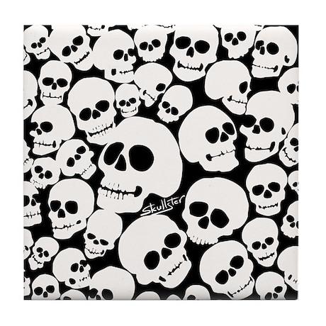 Pile of Skulls Tile Coaster