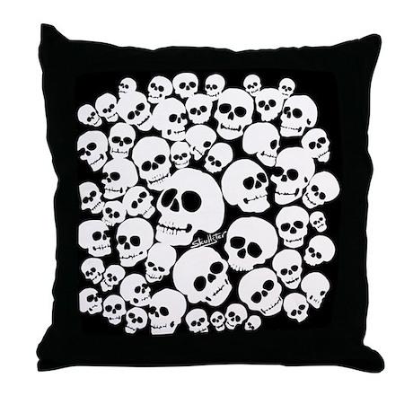 Pile of Skulls Throw Pillow