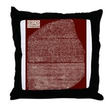 Funny Rosetta stone Throw Pillow