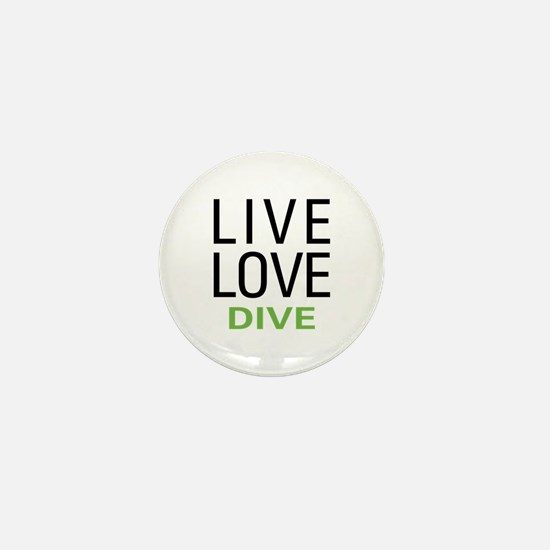 Live Love Dive Mini Button