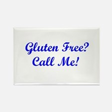 Gluten Free? Call Me! Rectangle Magnet