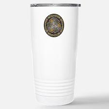 Bejeweled Celtic Shield Stainless Steel Travel Mug