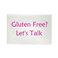 Gluten Free? Let's Talk Rectangle Magnet