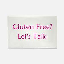 Gluten Free? Let's Talk Rectangle Magnet