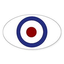 Tank Girl Target Oval Decal