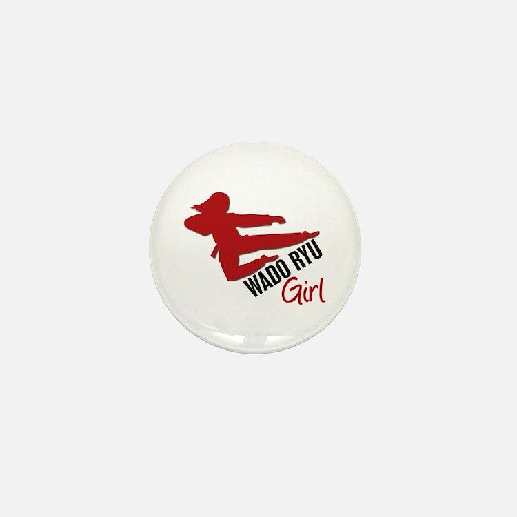 Wado Ryu Girl Mini Button