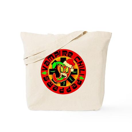 Christmas Vampire Chili Peppers Tote Bag
