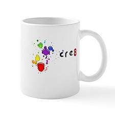 CRE8, rainbow splatter, Mug