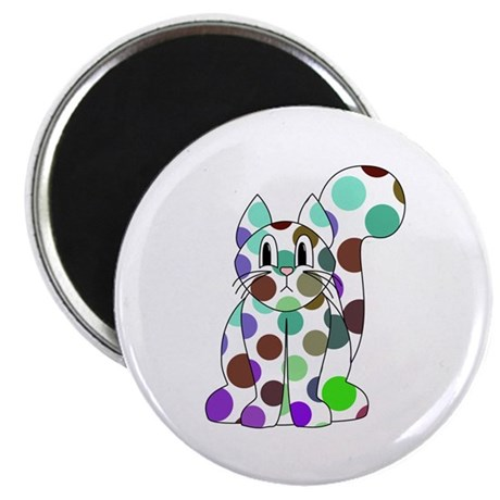 Cute Polka Dot Kitty Cat Magnet