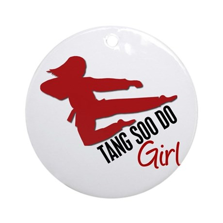 Tang Soo Do Girl Ornament (Round)