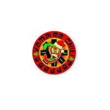 Christmas Vampire Chili Peppers Mini Button