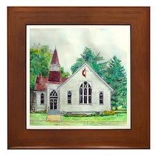 Clinton OH Methodist Church Framed Tile