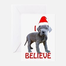 dane puppy christmas Greeting Cards (Pk of 10)