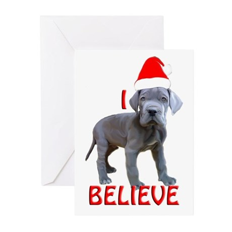 dane puppy christmas Greeting Cards (Pk of 20)