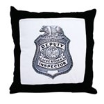 L.A. County Livestock Inspect Throw Pillow