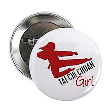 """Tai Chi Chuan Girl 2.25"""" Button"""