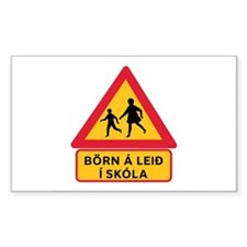 Caution Children Going To School, Iceland Decal