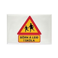 Caution Children Going To School, Iceland Rectangl