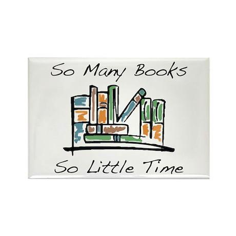 So Many Books Rectangle Magnet (10 pack)