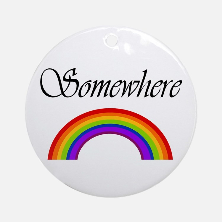 Somewhere Over the Rainbow Ornament (Round)