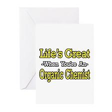 """Life's Great..Organic Chemist"" Greeting Cards (Pk"