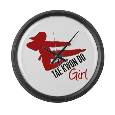 Tae Kwon Do Girl Large Wall Clock