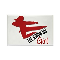 Tae Kwon Do Girl Rectangle Magnet (10 pack)