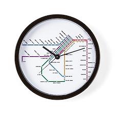SF MUNI Map Wall Clock