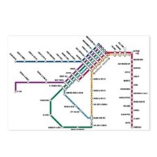 SF MUNI Map Postcards (Package of 8)