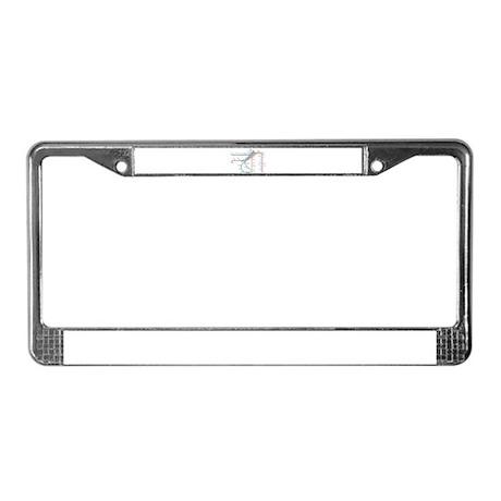 SF MUNI Map License Plate Frame