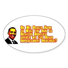Impeachment Hearings - Oval Decal