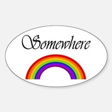 Somewhere Over the Rainbow Oval Decal