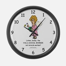 Miracle Worker Large Wall Clock