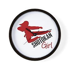 Shotokan Girl Wall Clock