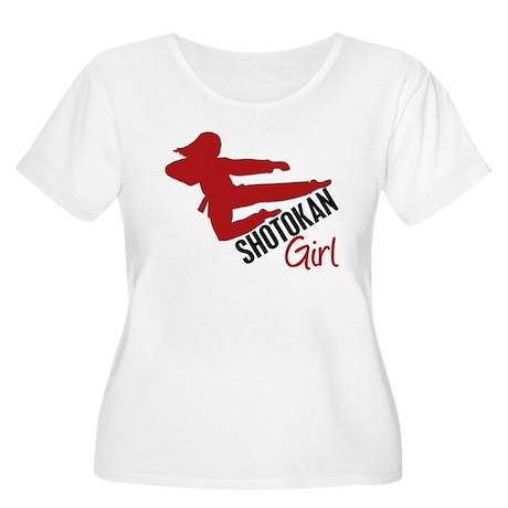 Shotokan Girl Women's Plus Size Scoop Neck T-Shirt