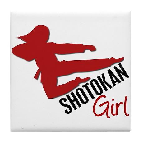 Shotokan Girl Tile Coaster