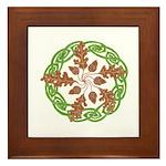 Oak 'n Acorns Framed Tile
