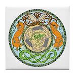 Fox Cat Snake Mice Tile Coaster