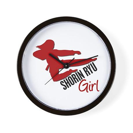 Shorin Ryu Girl Wall Clock