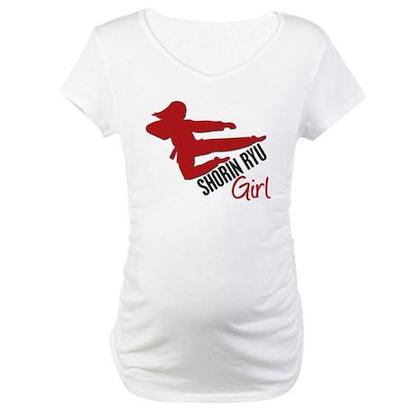 Shorin Ryu Girl Maternity T-Shirt